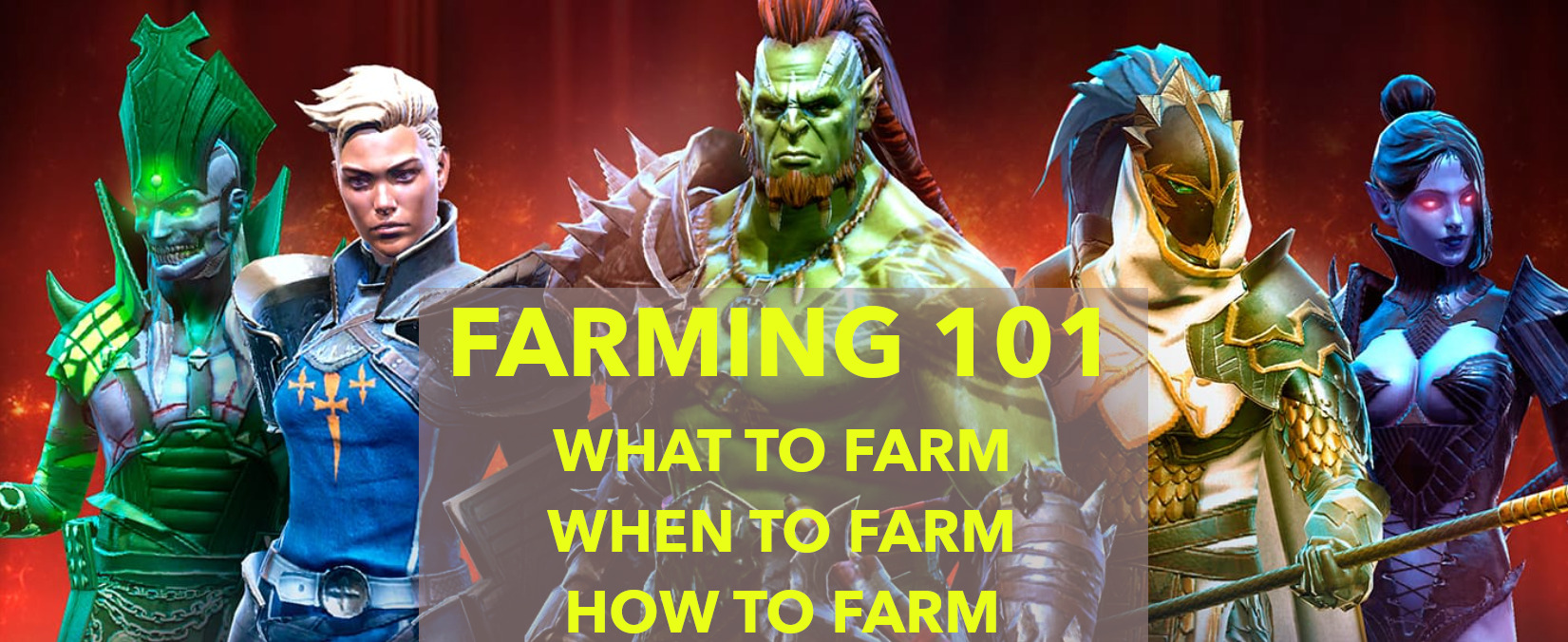 Farming 101 - What to farm, when to farm, how to farm