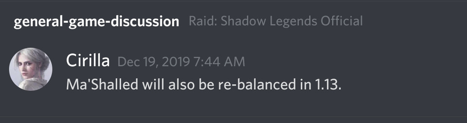 Patch 1.13: confirmed Ma'Shalled buff