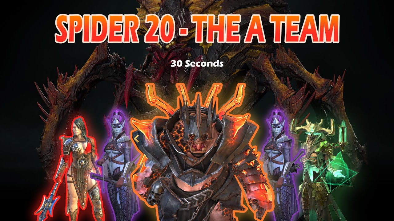 A team for Spider 20 under 30 seconds!