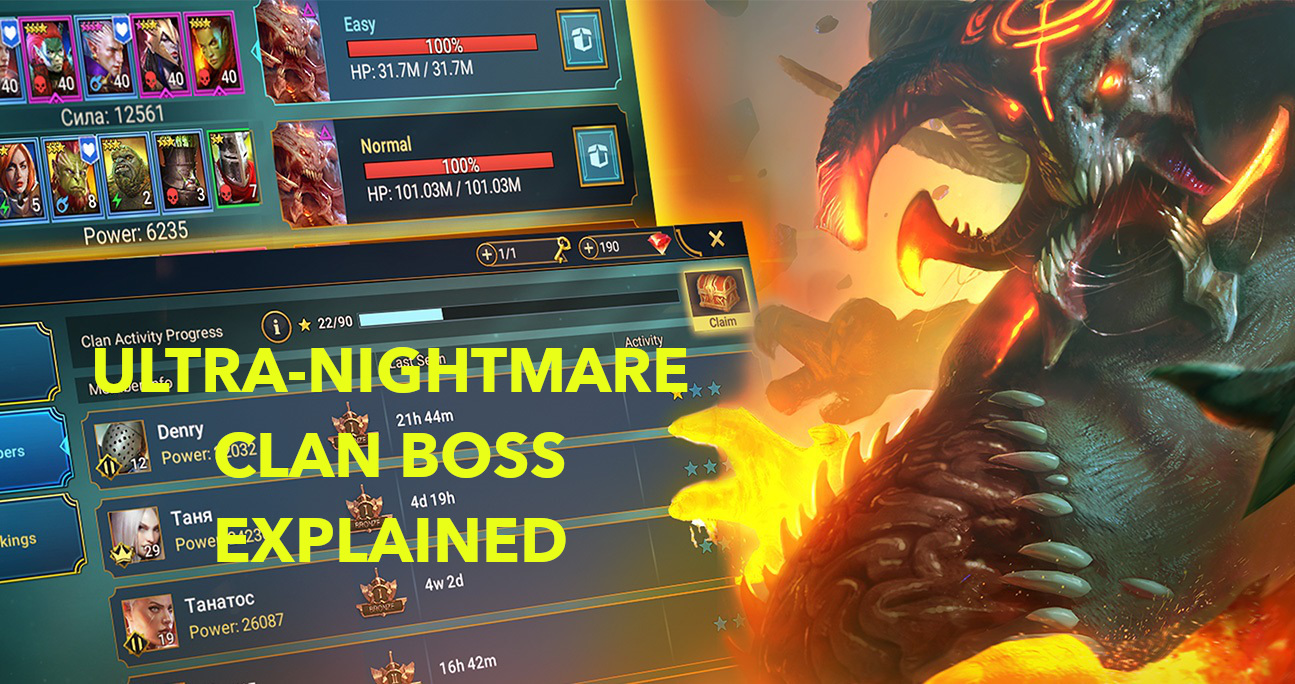 Pushing through Ultra-Nightmare Clan Boss