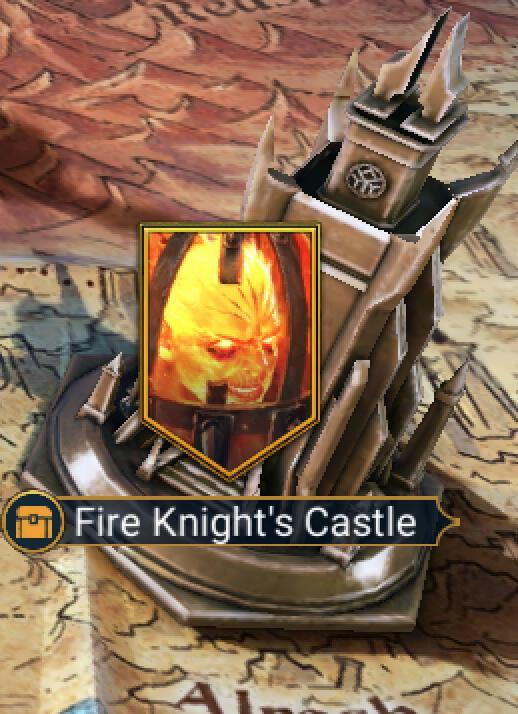 What are the best champions for the Fire Knight's Castle ?