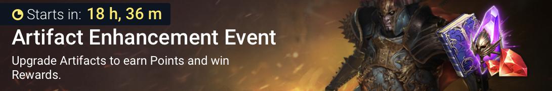 Artifact enhancement event